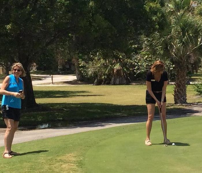 Practicing for the Putting Contest!