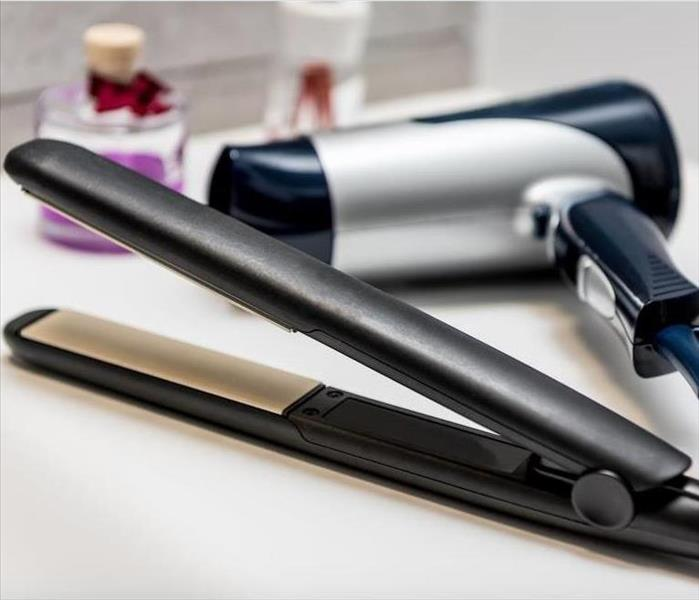 Fire Damage A Hair Straightener Can Cause a Small Fire in Your Bathroom