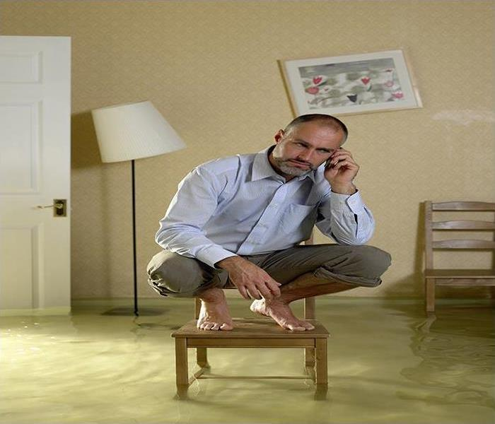 Storm Damage Drying Your Basement Flooring After Flood Damage From Heavy Rains In Belleair Bluffs